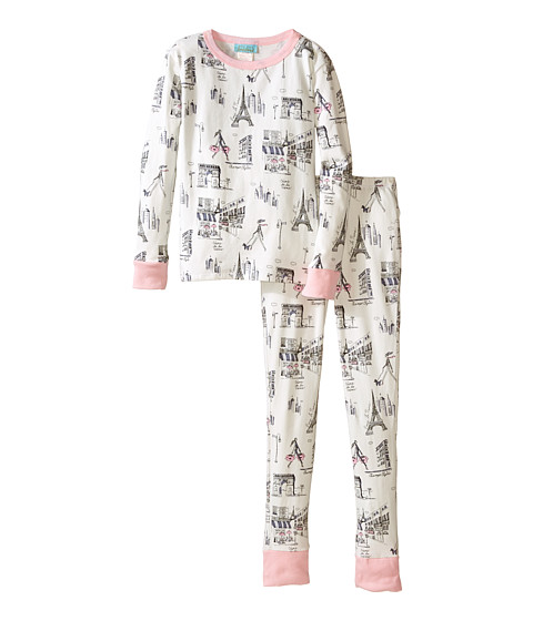 BedHead Kids - Snug Fit L/S Classic PJ (Big Kids) (Cafe Du Paris) Girl's Pajama Sets