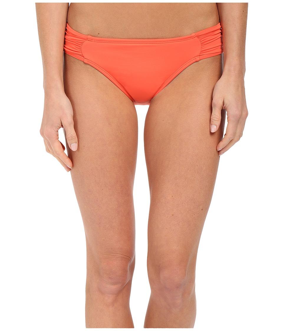 La Blanca - Island Goddess Side Shirred Hipster Bottom (Papaya) Women's Swimwear