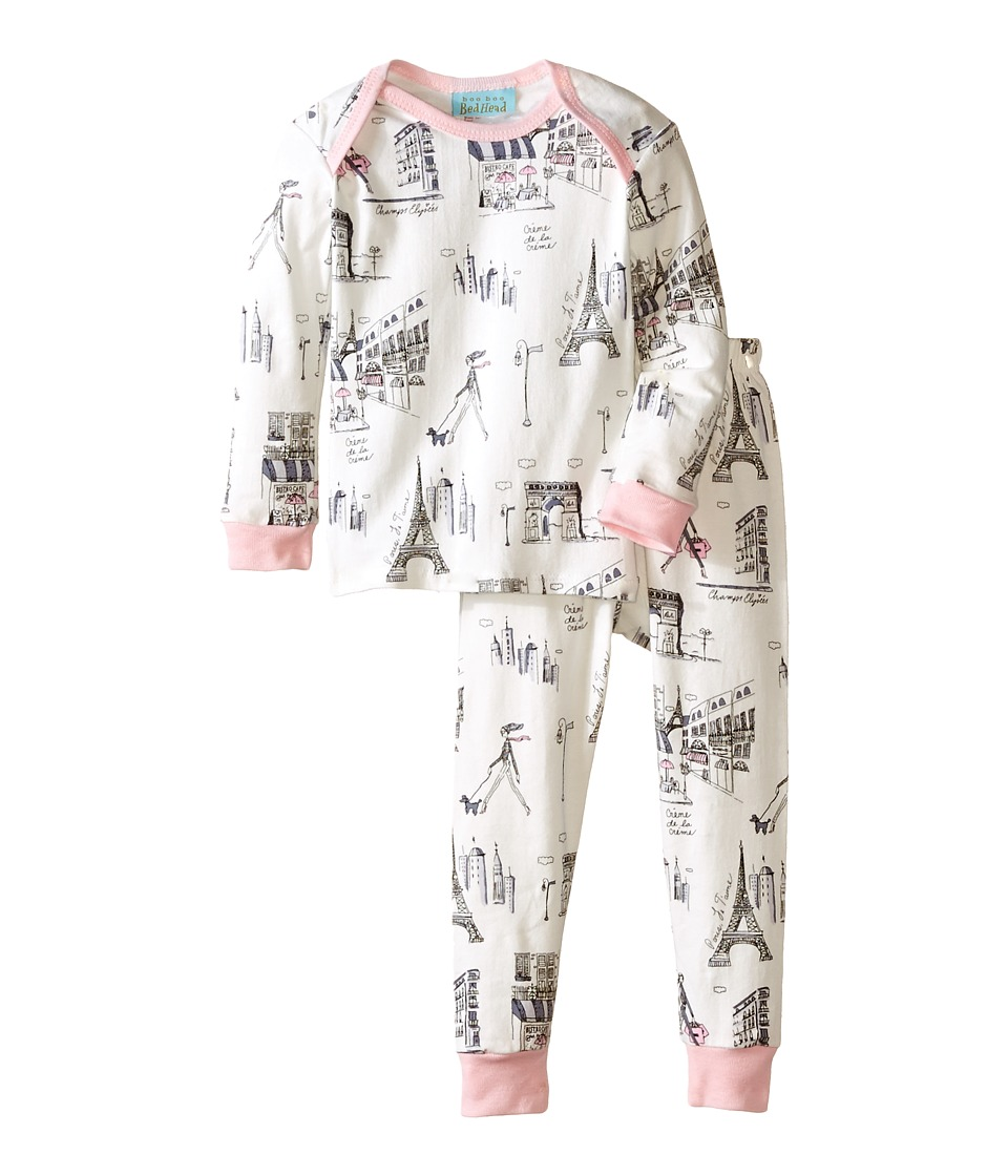 BedHead Kids - L/S Tee Pant (Infant) (Cafe Du Paris) Girl's Pajama Sets