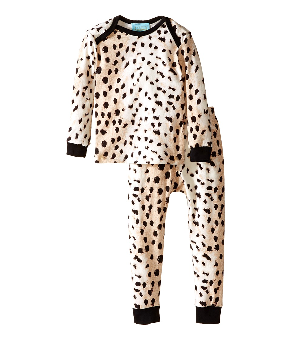BedHead Kids - L/S Tee Pant (Infant) (Royal Animal) Girl's Pajama Sets