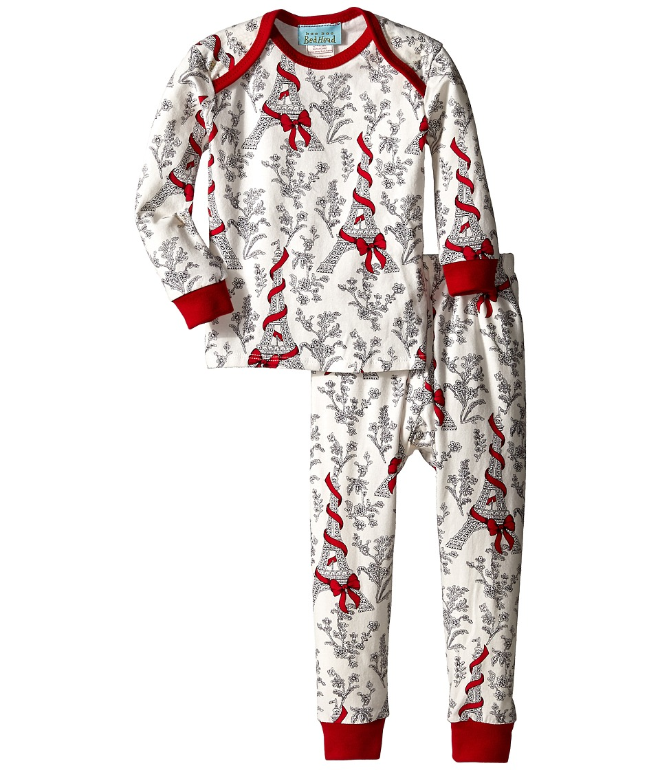 BedHead Kids - L/S Tee Pant (Infant) (Bow Eiffel) Girl's Pajama Sets