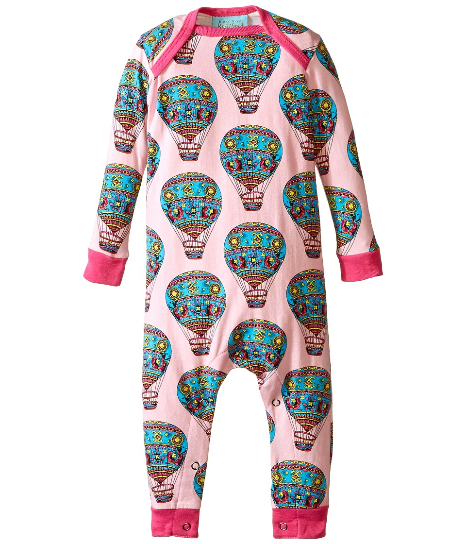 BedHead Kids - Baby L/S One Piece (Infant) (Multi Hot Air Balloons) Girl