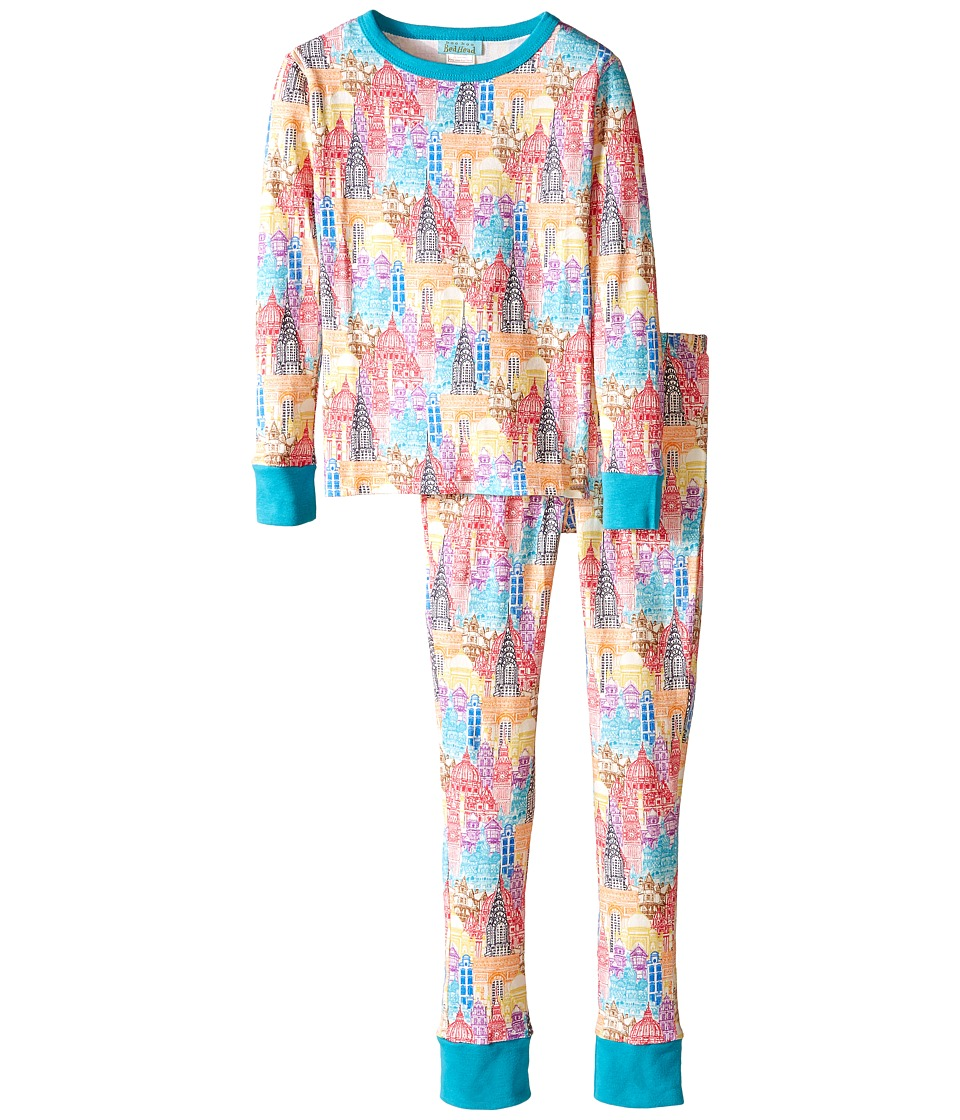 BedHead Kids - Tween Snug Fit Classic PJ (Big Kids) (Multi Wonders of the World) Kid