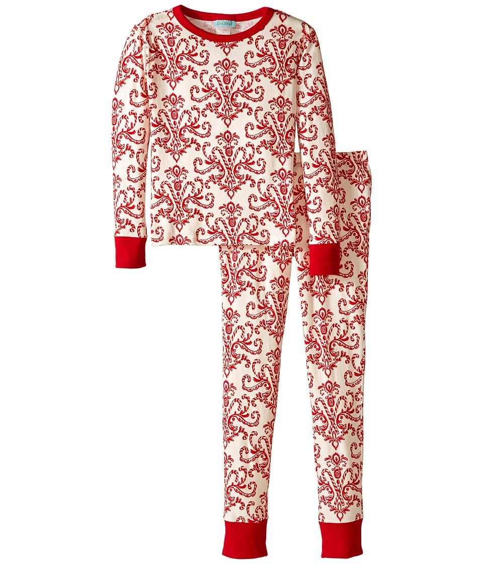 Image of BedHead Kids - Tween Snug Fit Classic PJ (Big Kids) (Candy Canes) Kid's Pajama Sets