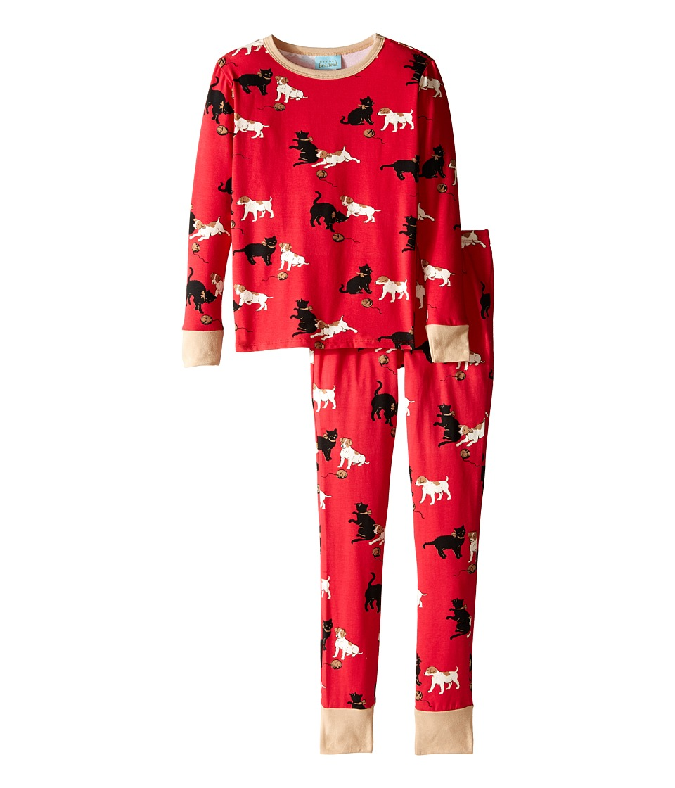 BedHead Kids - Tween Snug Fit Classic PJ (Big Kids) (Red Cats/Dogs) Kid's Pajama Sets