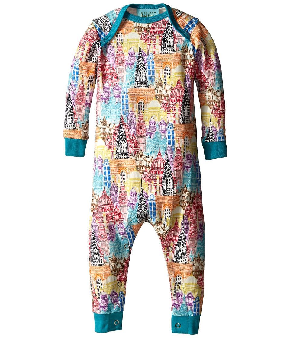 BedHead Kids - Long Sleeve One-Piece (Infant) (Multi Wonders of the World) Kid's Jumpsuit & Rompers One Piece