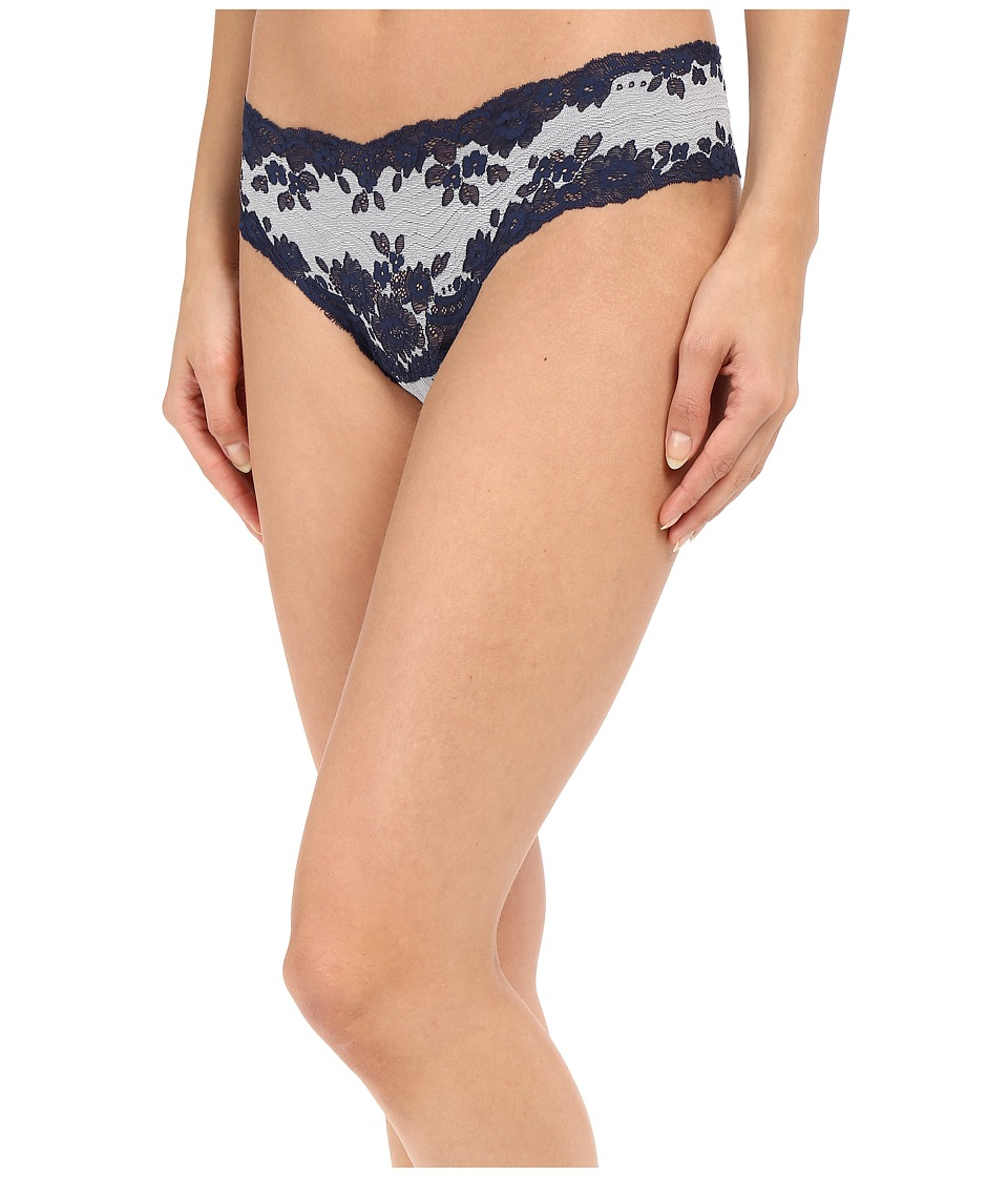 Cosabella - Italia Lowrider Thong (Navy Blue/White) Women's Underwear