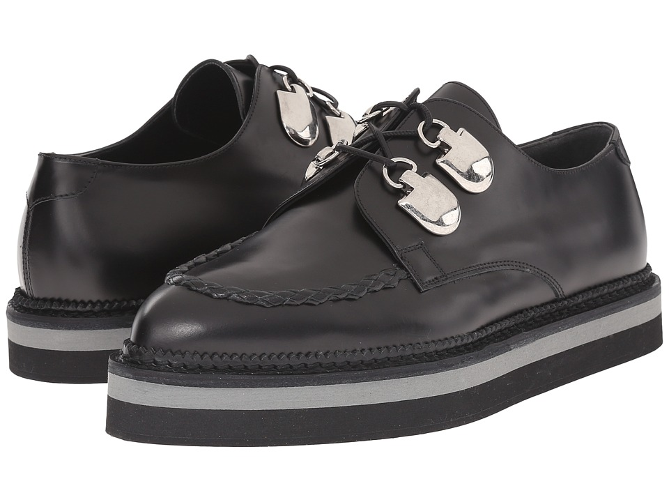 Alexander McQueen - Scarpa Sport Pelle S.Gomma (Black/Black) Women's Lace up casual Shoes