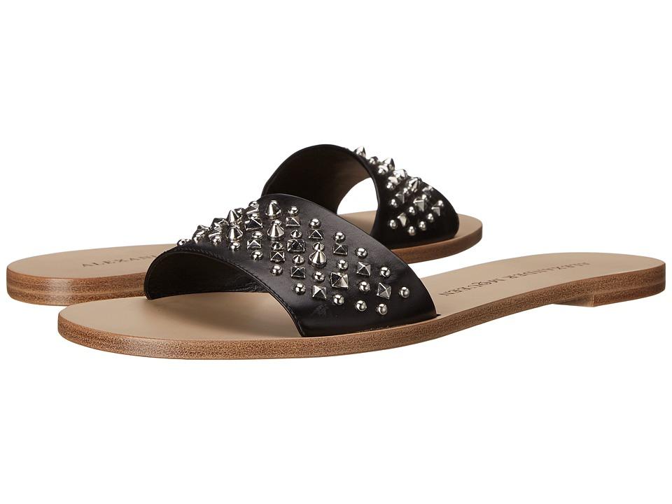 Alexander McQueen - Sandal Pelle S.Cuoio (Black) Women's Sandals