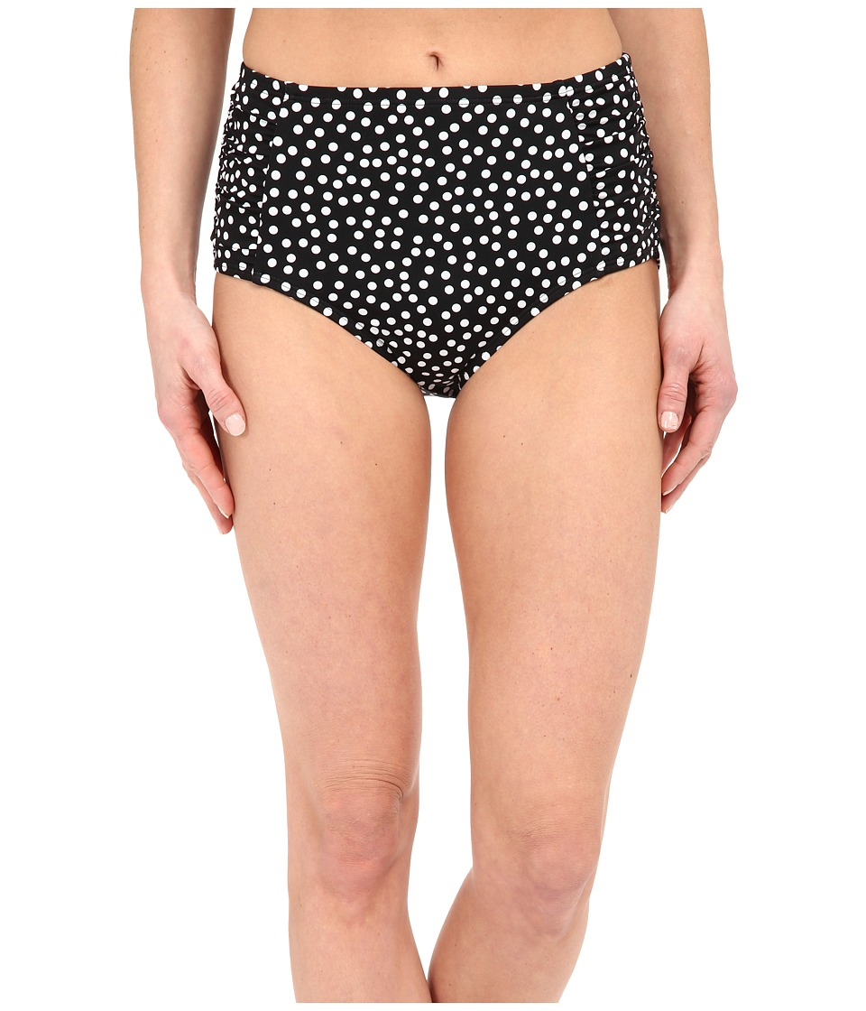 Jantzen - Jet Set Dot High Waisted Bottom (Black) Women's Swimwear