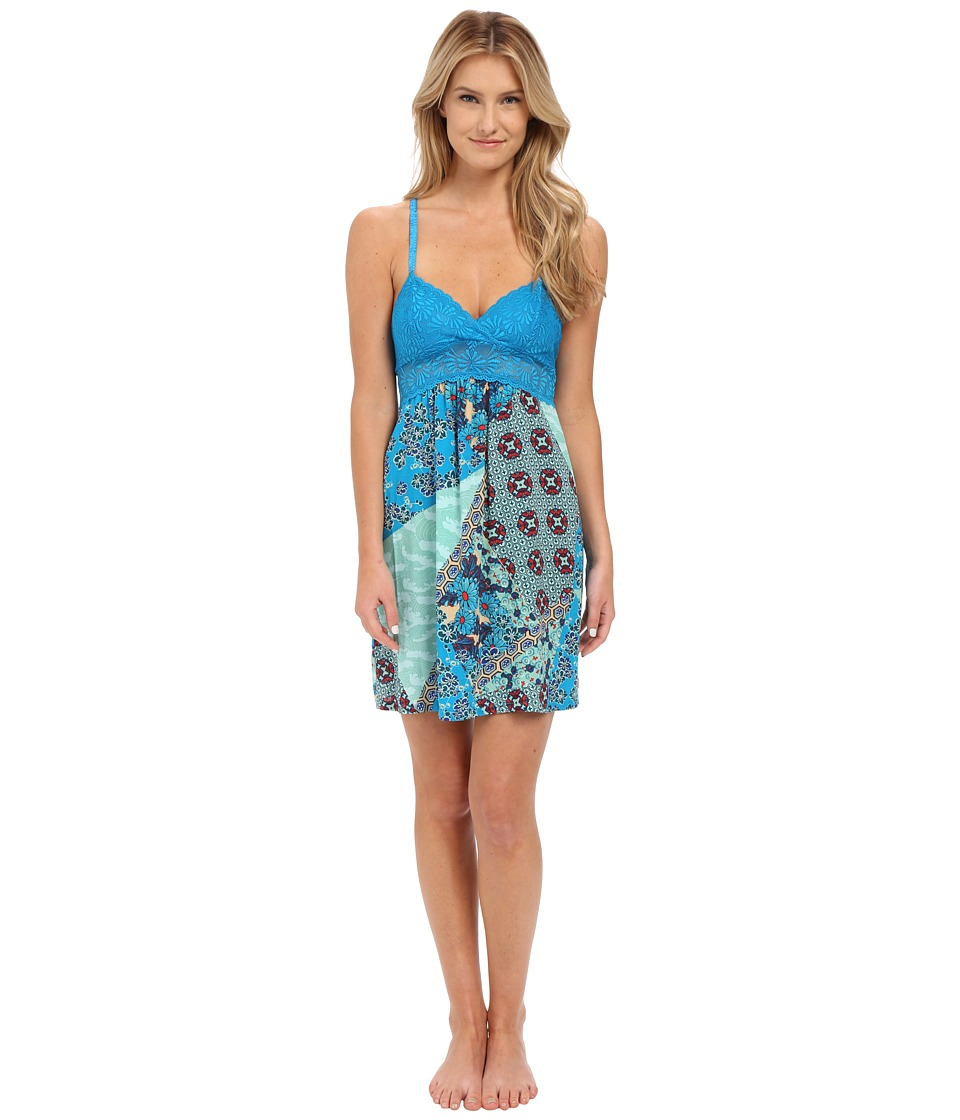Josie - Splendor Chemise (Blue Multi) Women's Pajama
