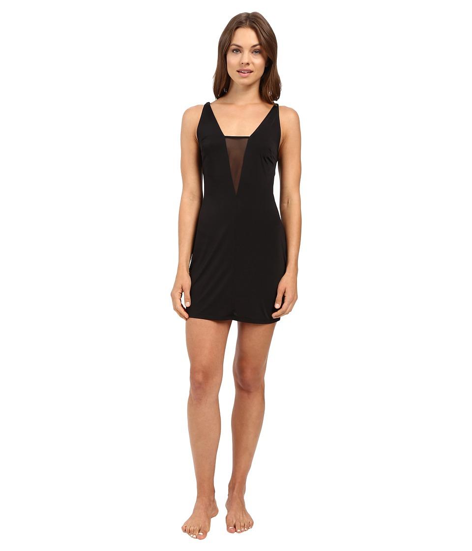 Josie - Sexy Slinky Chemise (Black) Women's Pajama