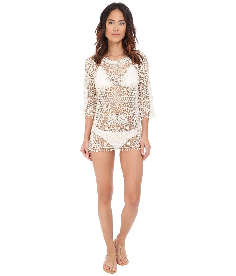 Jantzen - Crochet Cover-Up (Ivory) Women's Swimwear