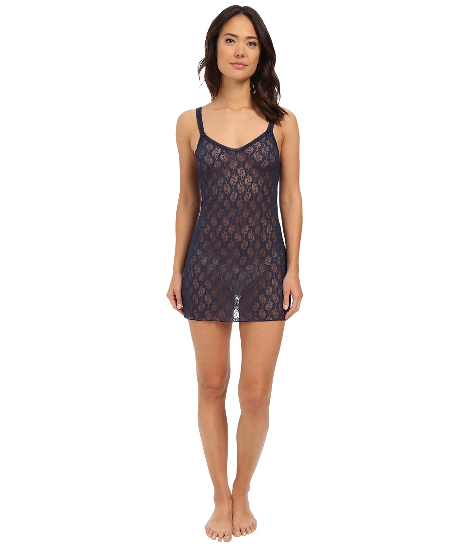 b.tempt'd - Lace Kiss Chemise (Peacoat) Women's Pajama