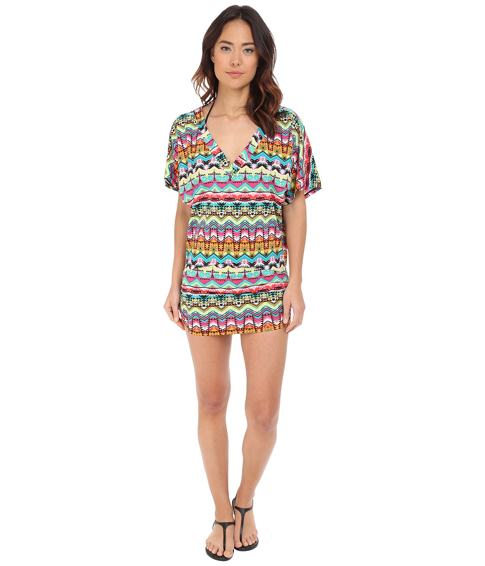 Jantzen - Tulum Shirred Side Tunic Cover-Up (Multi) Women's Swimwear