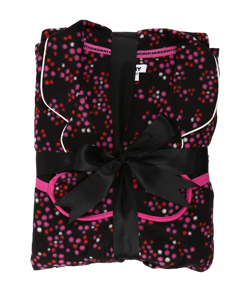 DKNY - Snowed In PJ Eyemask Set (Black Multi) Women's Pajama Sets