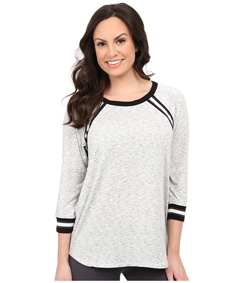DKNY - Game Changer Raglan PJ Top (Light Grey) Women
