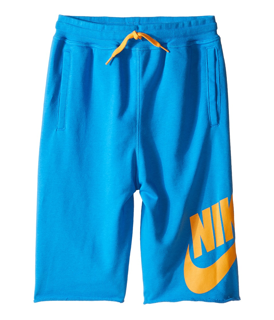 Nike Kids - French Terry Alumni Short (Little Kids/Big Kids) (Light Photo Blue) Boy's Shorts