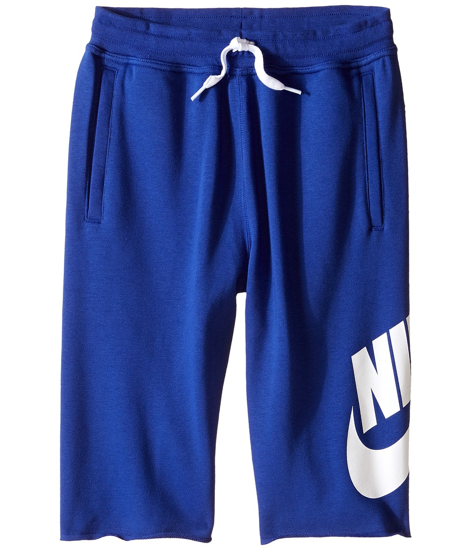 Nike Kids - French Terry Alumni Short (Little Kids/Big Kids) (Deep Royal Blue/White) Boy's Shorts