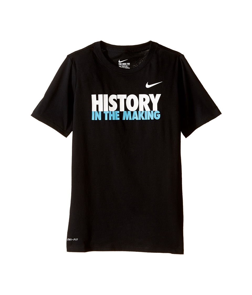 Nike Kids - Making History Tee (Little Kids/Big Kids) (Black) Boy's T Shirt
