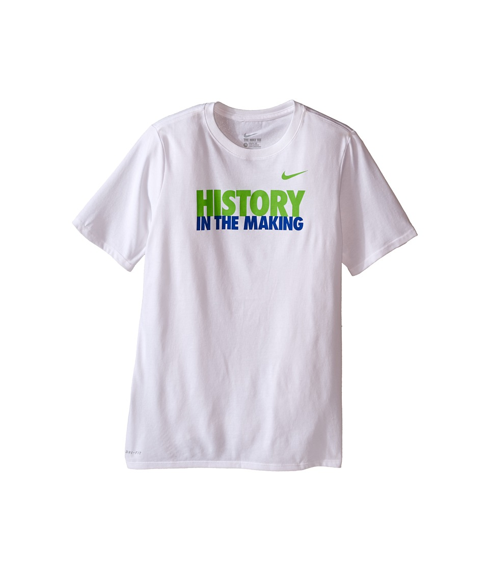 Nike Kids - Making History Tee (Little Kids/Big Kids) (White) Boy's T Shirt