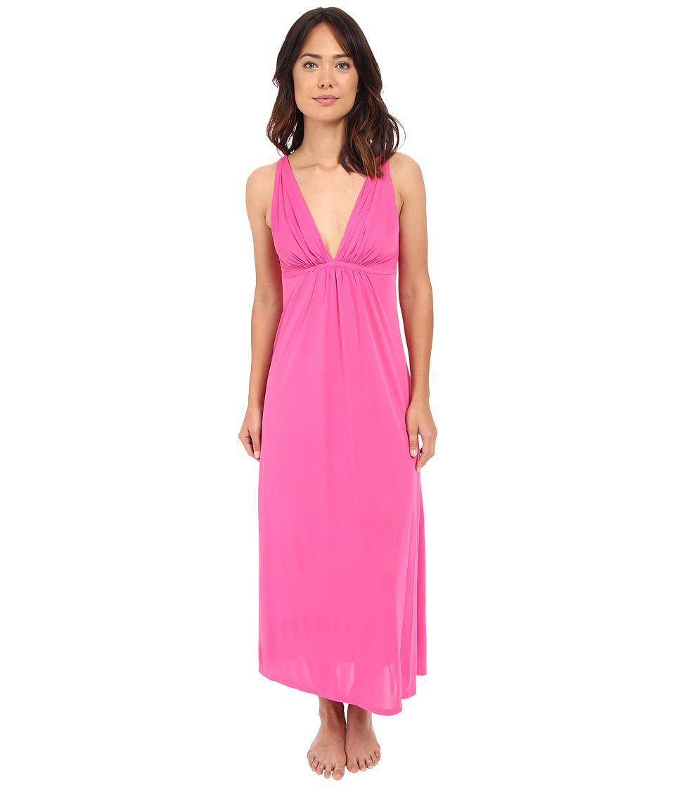 Natori - Aphrodite Tank Gown (Tropical Pink) Women's Pajama