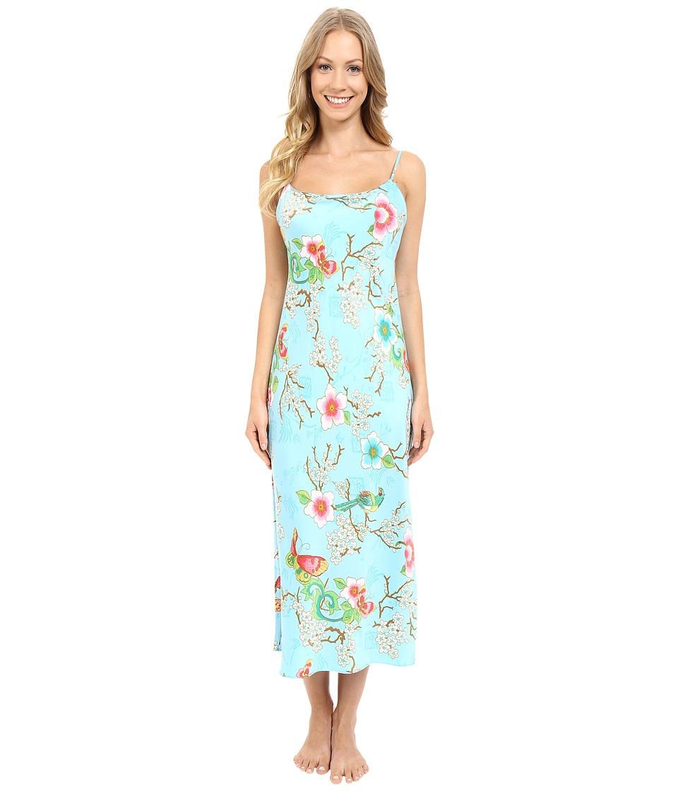Natori - Magnolia Gown (Sky Blue) Women's Pajama