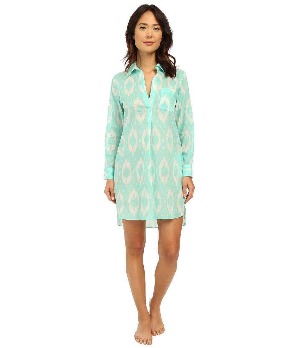 Natori - Batik Sleepshirt (Seafoam) Women's Pajama
