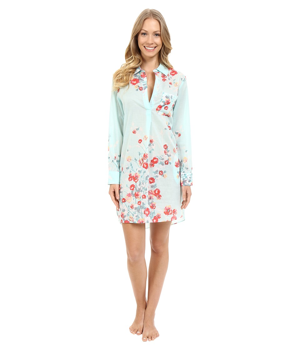 Natori - Fiore Sleepshirt (Blue Multi) Women's Pajama