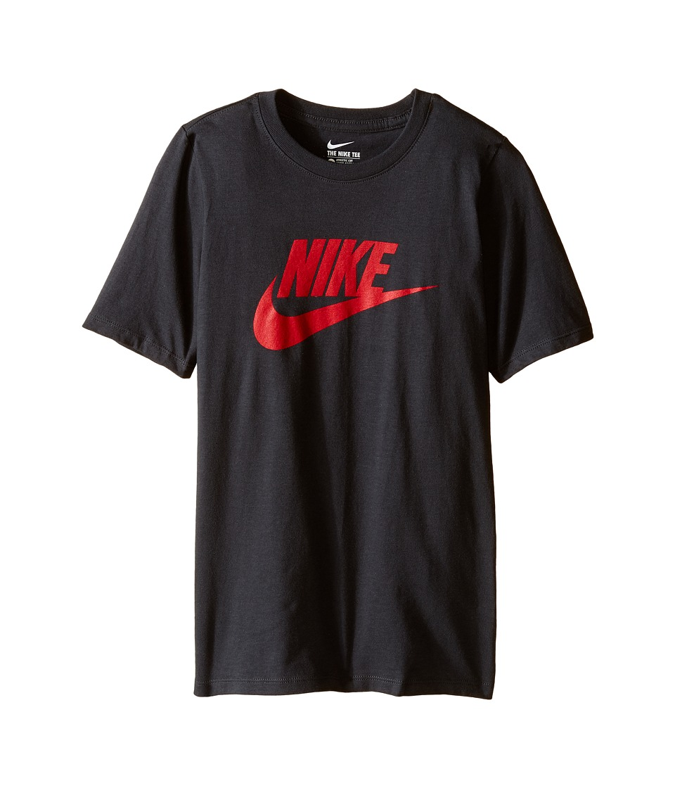 Nike Kids - Futura Icon Tee (Little Kids/Big Kids) (Anthracite/University Red) Boy's Short Sleeve Pullover
