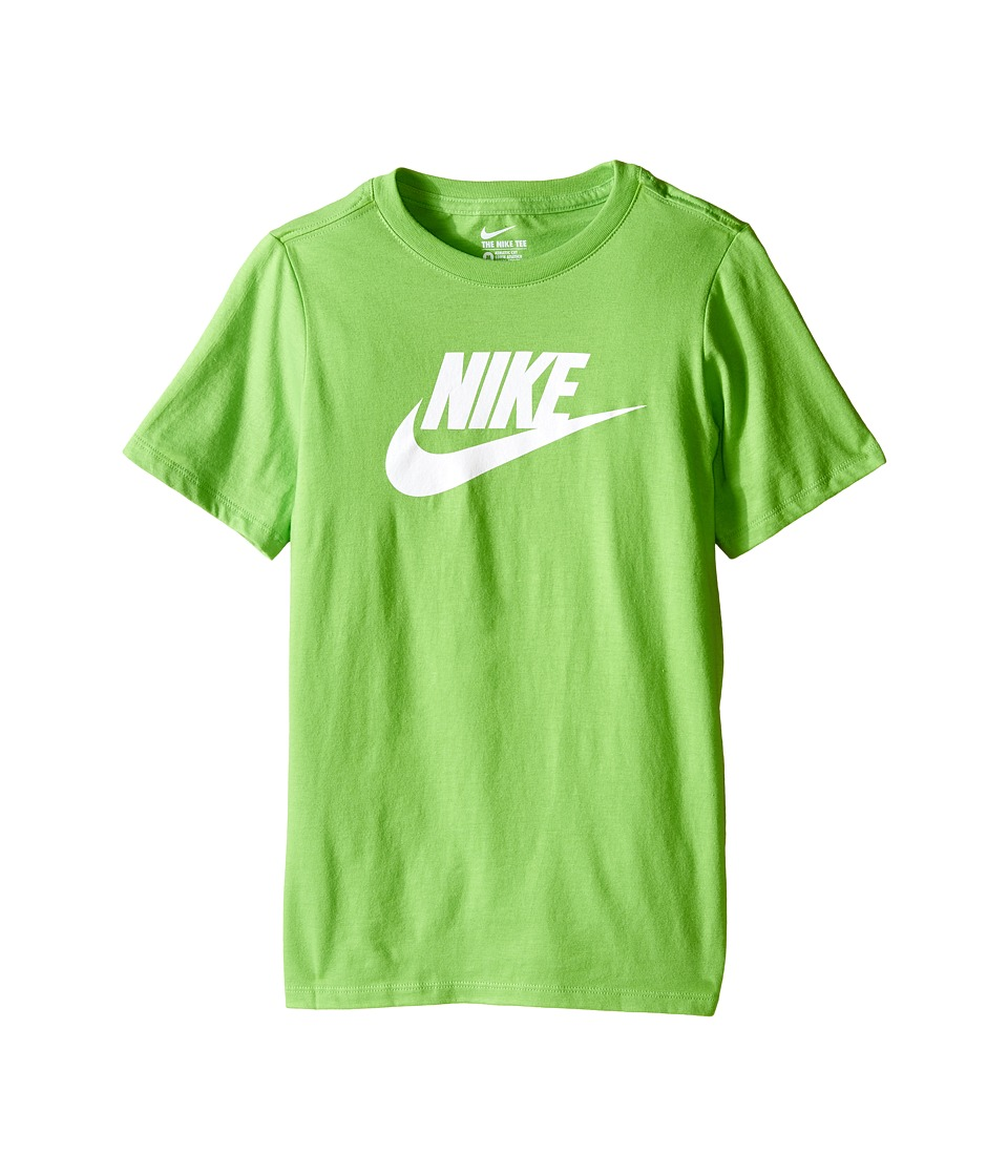 Nike Kids - Futura Icon Tee (Little Kids/Big Kids) (Action Green/White) Boy's Short Sleeve Pullover