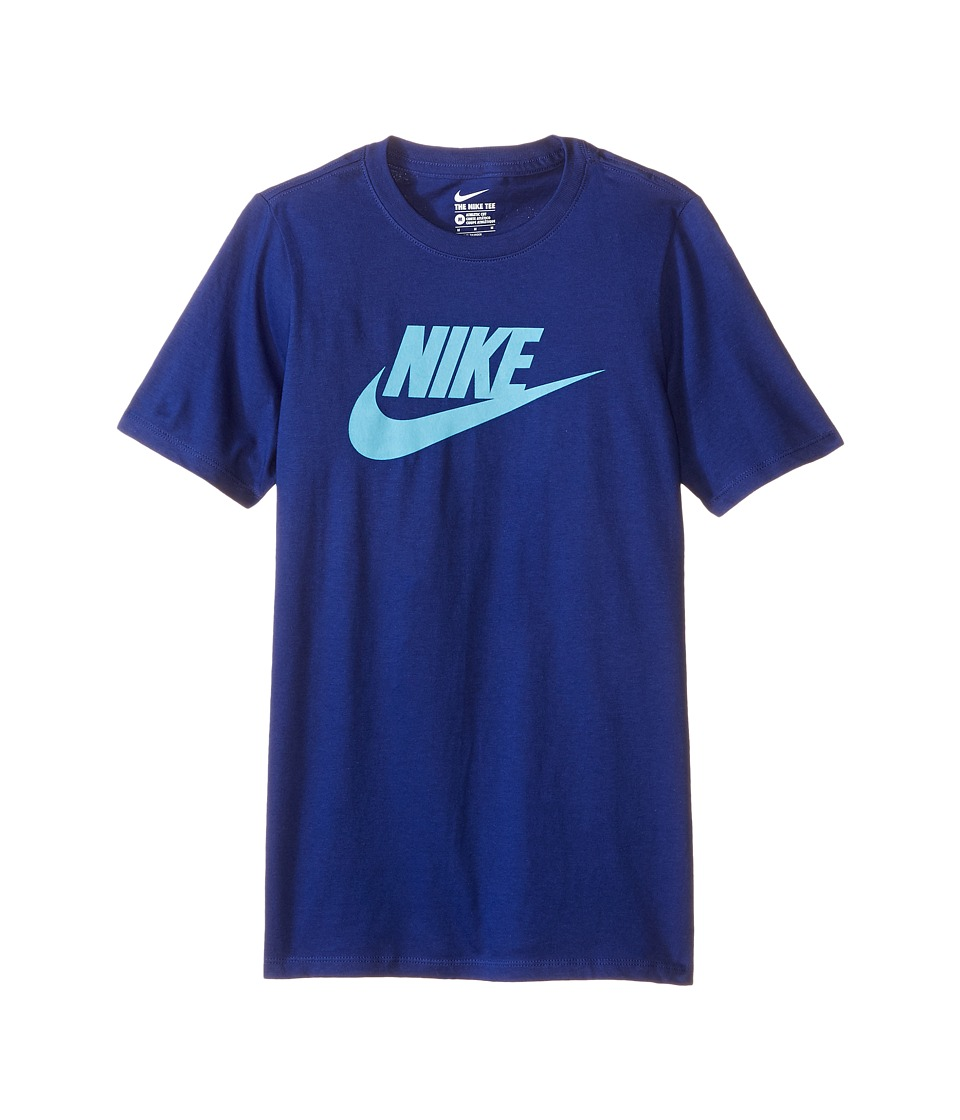Nike Kids - Futura Icon Tee (Little Kids/Big Kids) (Deep Royal Blue/Omega Blue) Boy's Short Sleeve Pullover