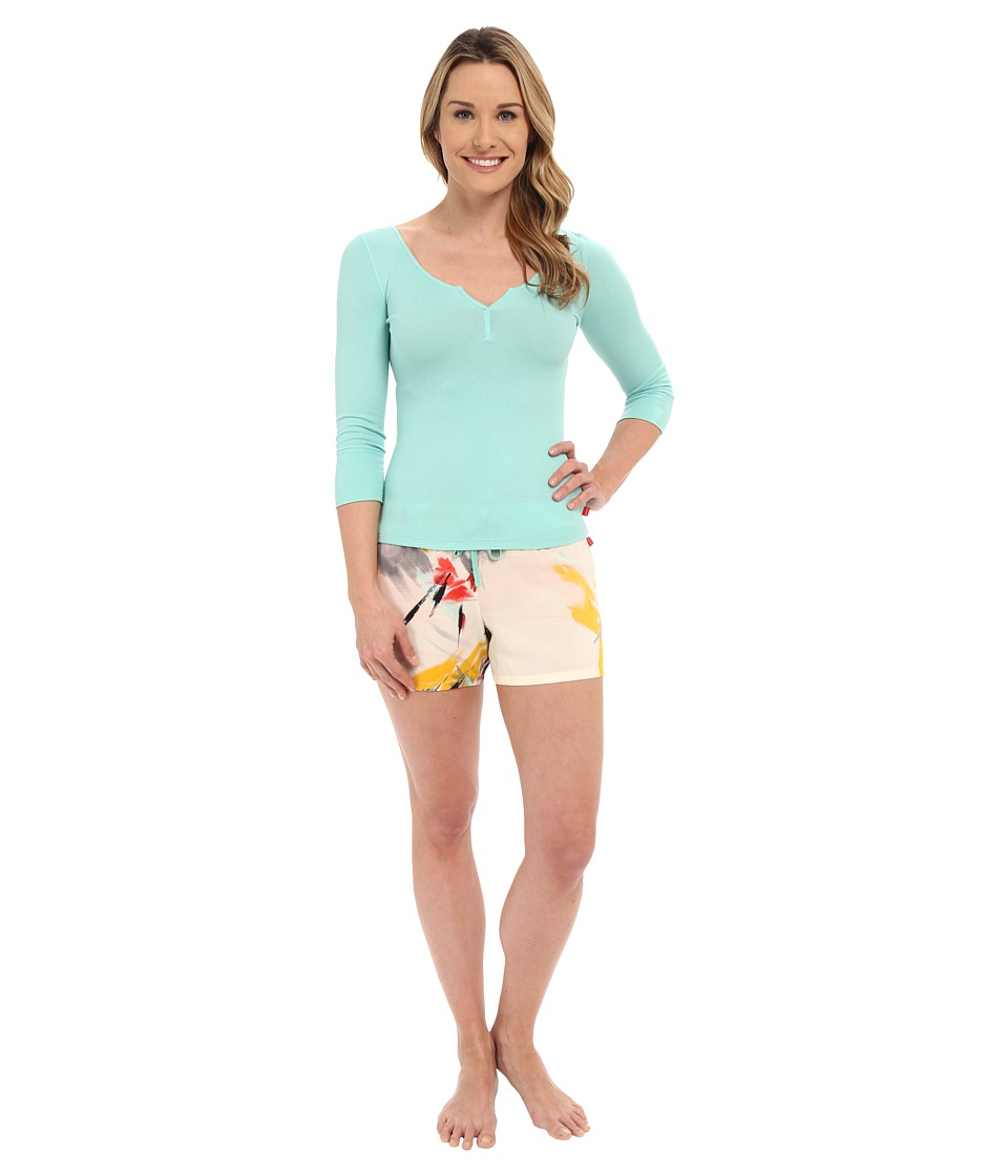 Josie - Brush Notes Short PJ Set (Pink Multi) Women's Pajama Sets