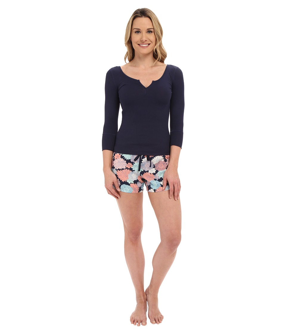 Josie - Sweet Melody Short PJ Set (Navy/Midnight Navy Top) Women's Pajama Sets
