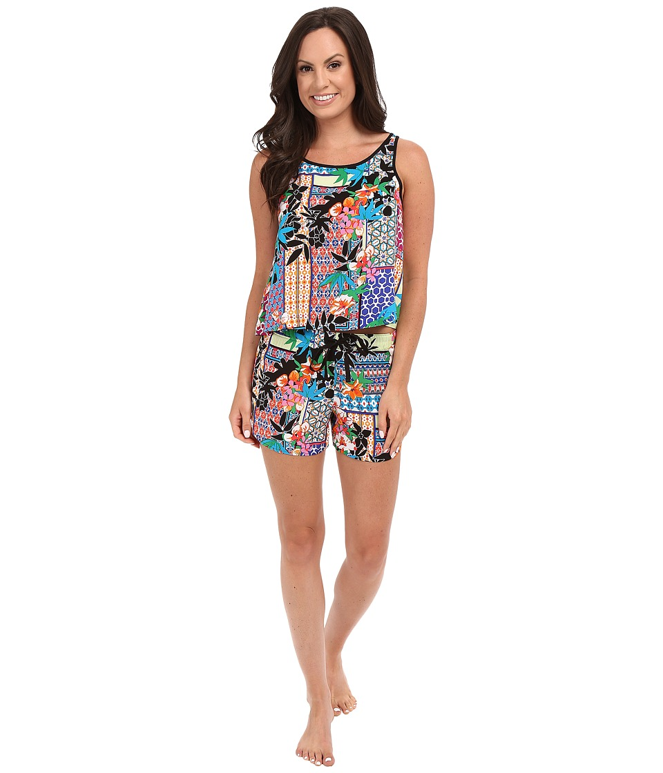 Josie - Collage Open Back PJ (Multi) Women's Pajama Sets