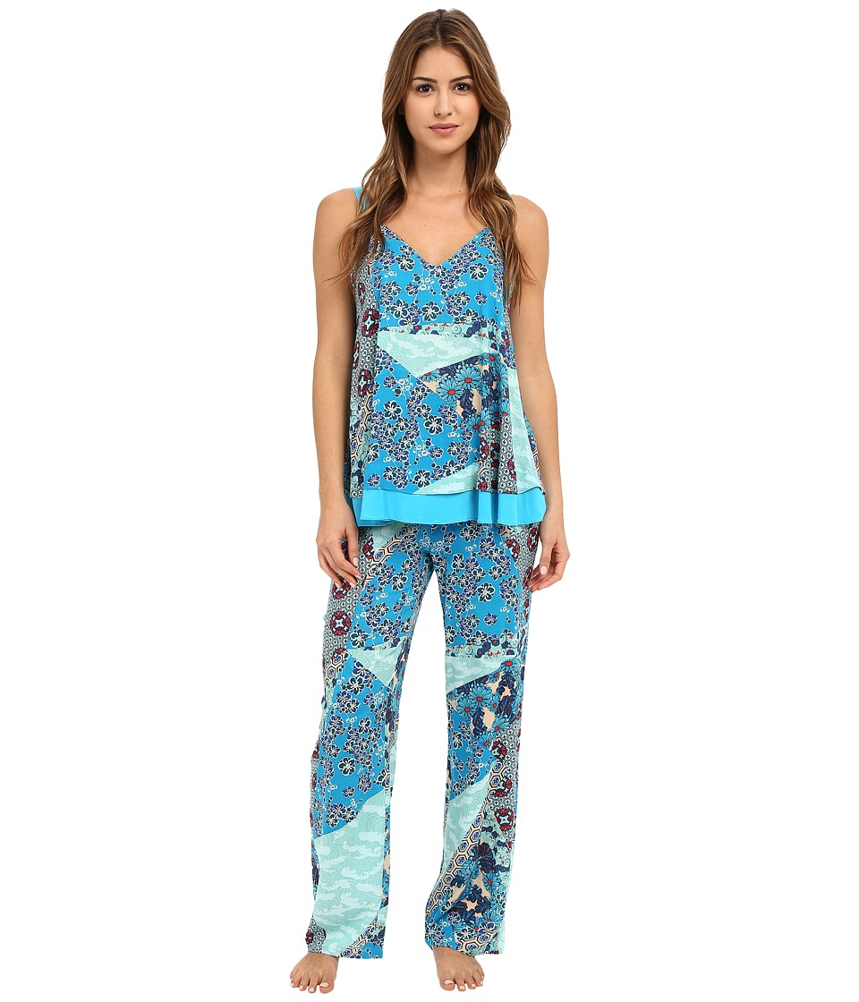 Josie - Splendor Cami PJ (Blue Multi) Women's Pajama Sets