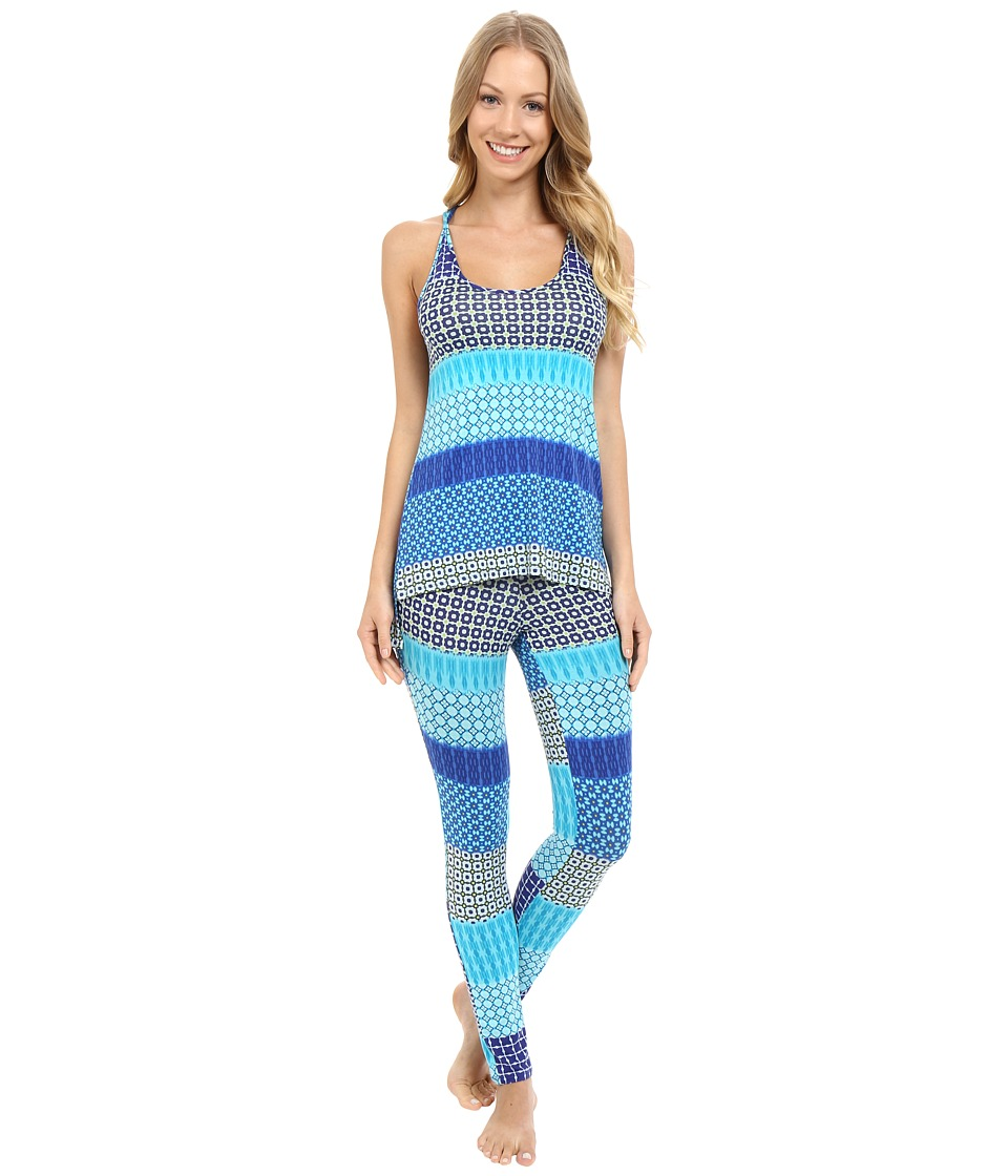 Josie - Cube Daze PJ (Blue) Women's Pajama Sets