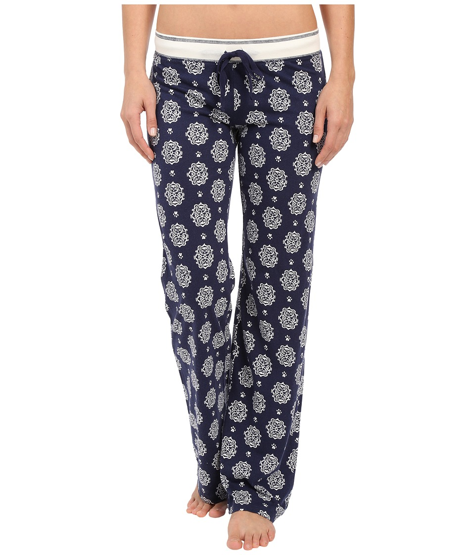 P.J. Salvage - Cat Print Lounge Pants (Navy) Women's Pajama