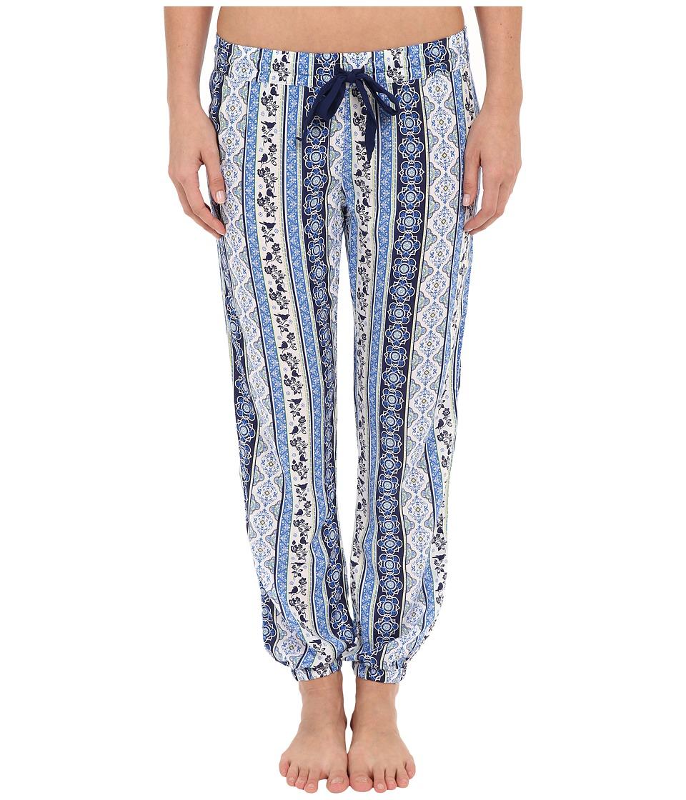 P.J. Salvage - Coastal Blue Print Banded Pants (Navy) Women's Pajama