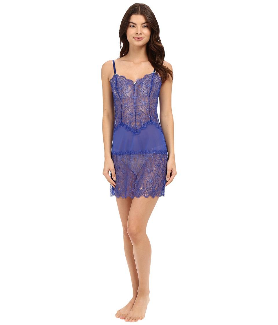 b.tempt'd - b.sultry Chemise (Deep Sea Blue) Women's Pajama