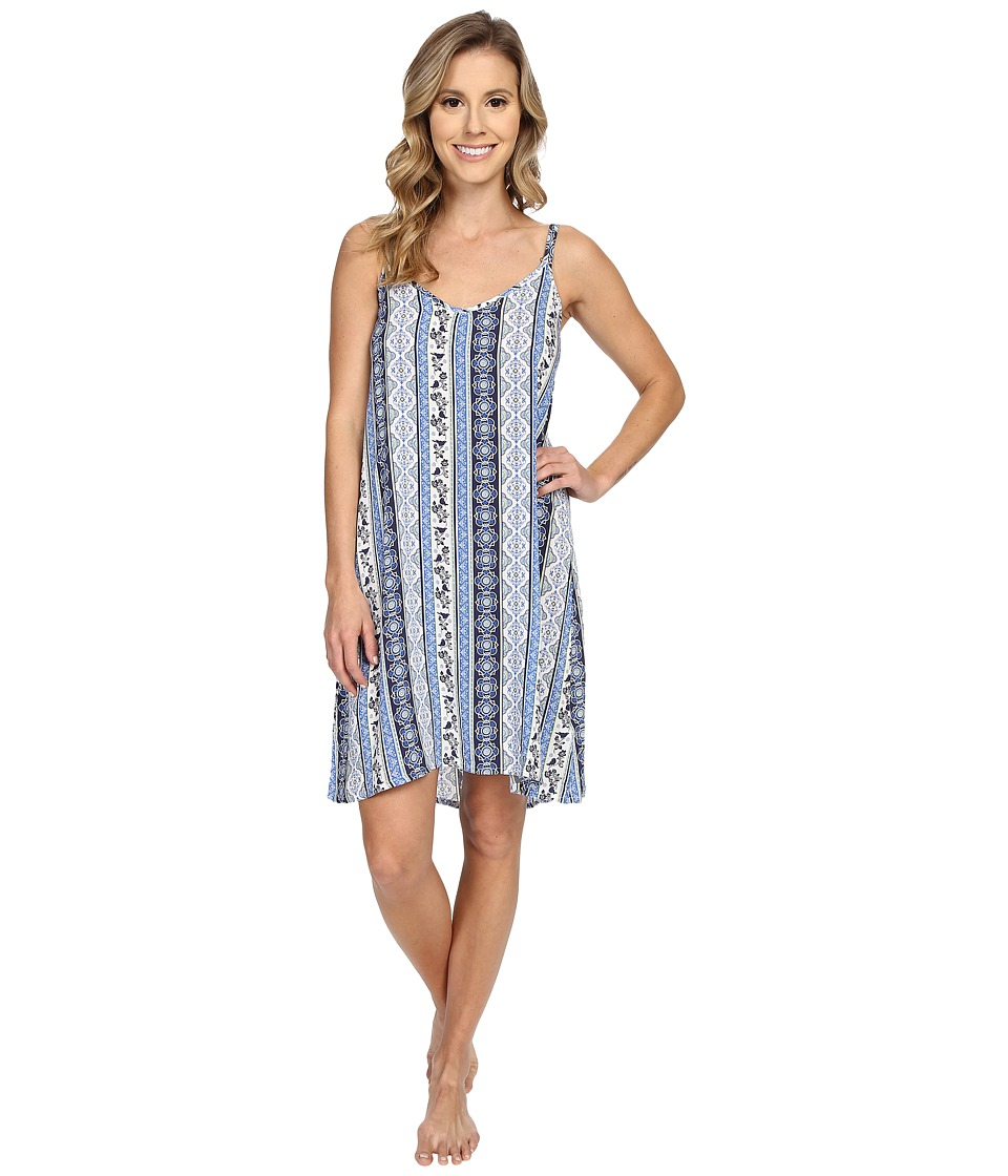 P.J. Salvage - Coastal Blue Print Chemise (Navy) Women's Pajama