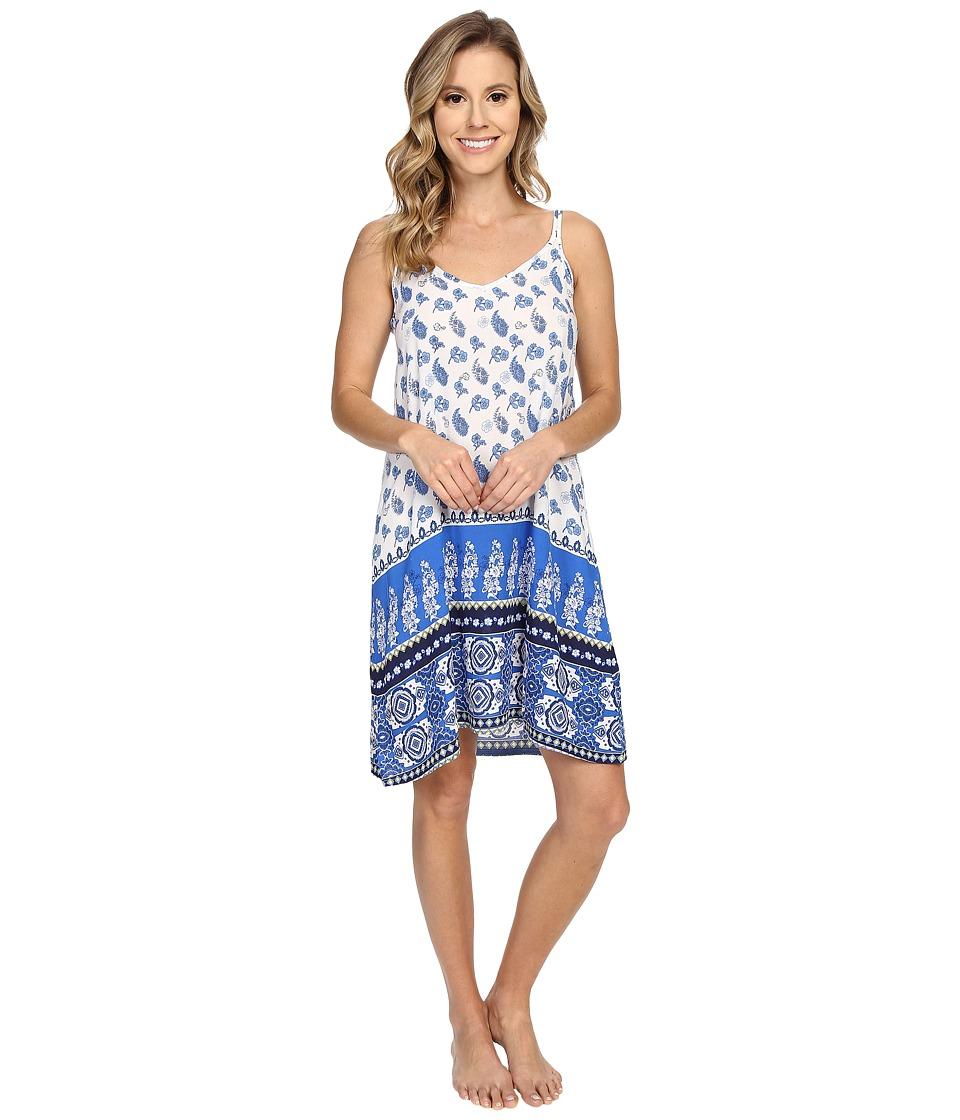 P.J. Salvage - Coastal Blue Print Chemise (Ivory) Women's Pajama