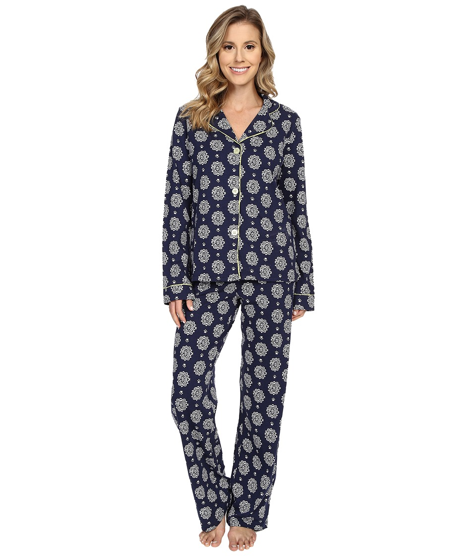 P.J. Salvage - Cat Print PJ Set (Navy) Women's Pajama Sets