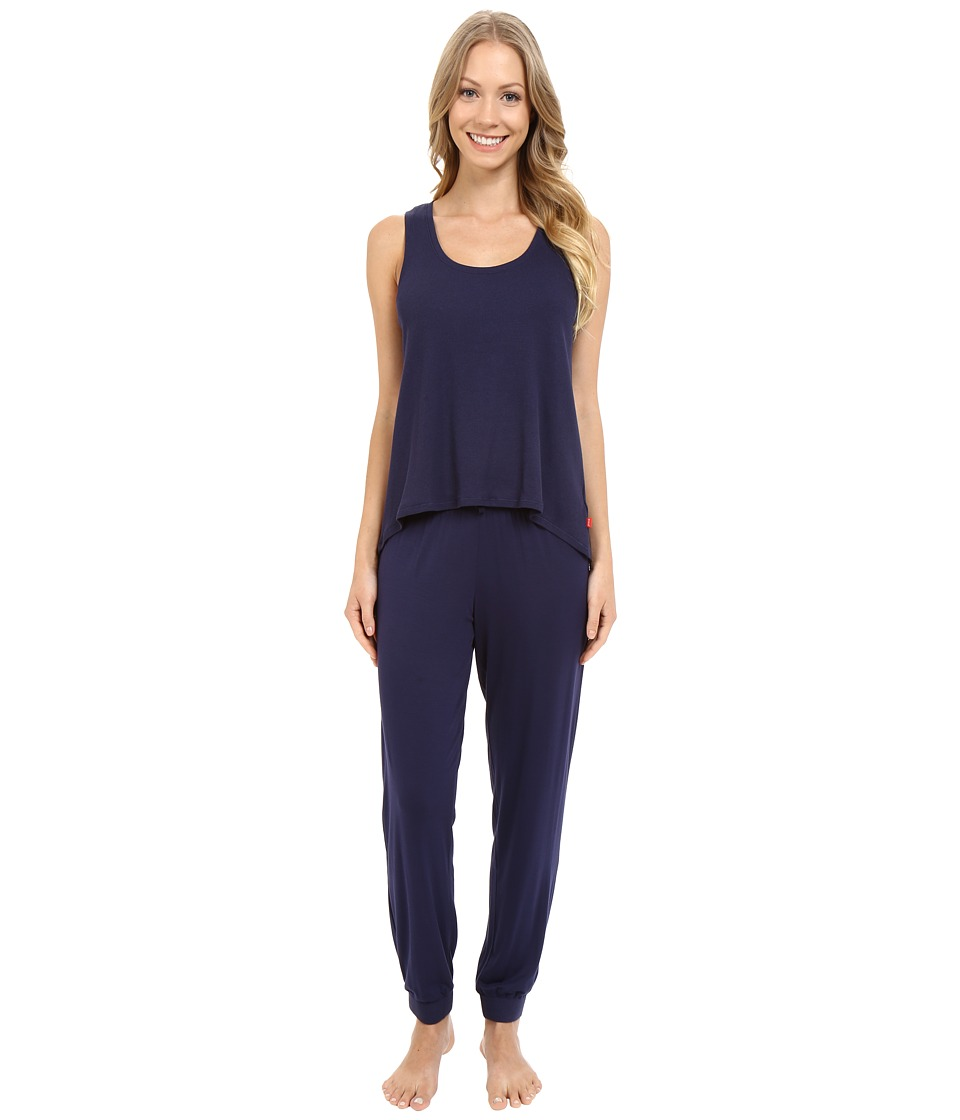 Josie - Ribbed PJ Set (Midnight Navy) Women's Pajama Sets