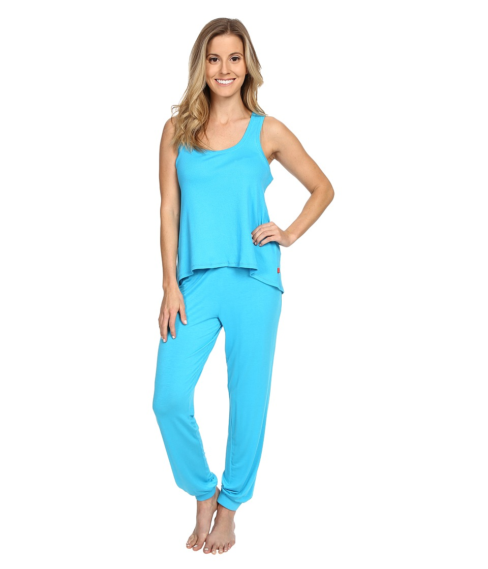 Josie - Ribbed PJ Set (Ocean Blue) Women's Pajama Sets