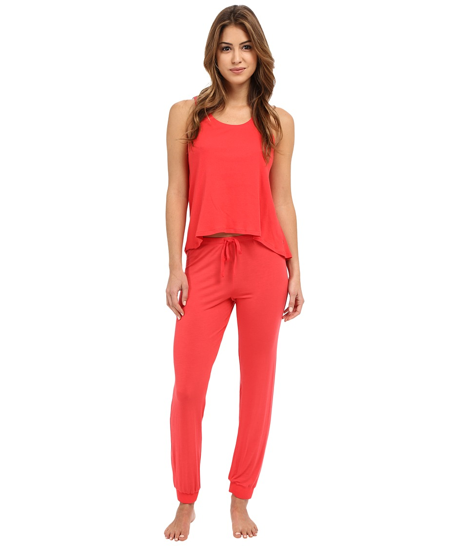 Josie - Ribbed PJ Set (Guava) Women's Pajama Sets