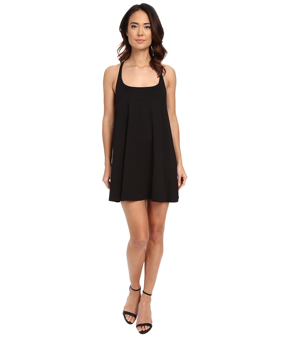 Susana Monaco - Racer Drape Dress (Black 1) Women's Dress