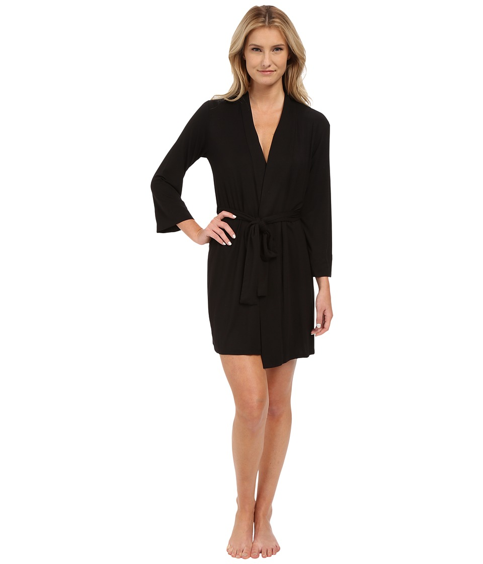 Natori - Feathers Robe (Black) Women's Robe