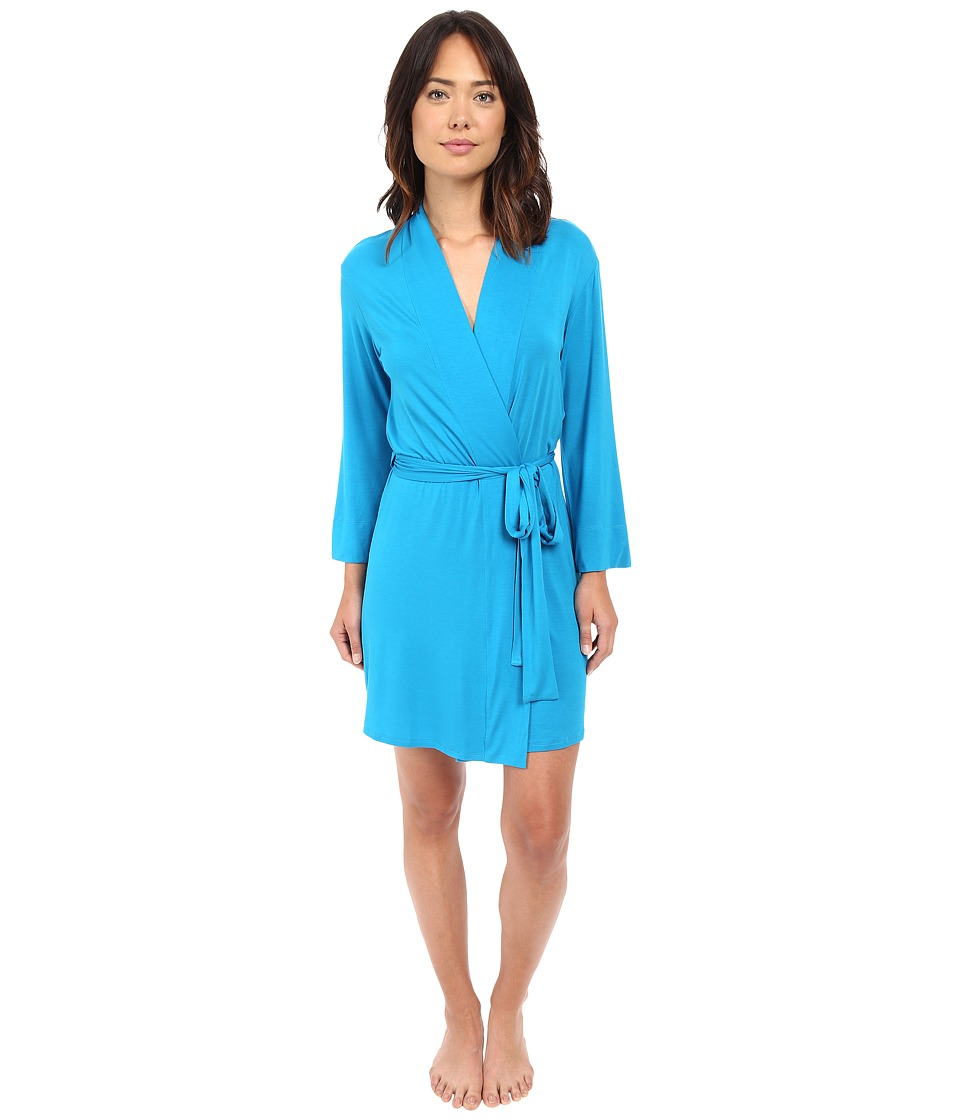 Natori - Feathers Robe (Caribe Blue) Women's Robe