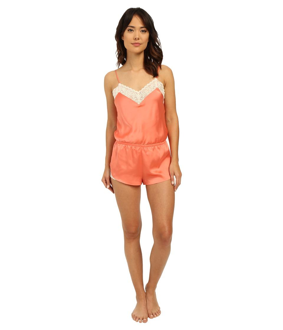 Josie - Coquette Romper (Apricot/Warm White Lace) Women's Jumpsuit & Rompers One Piece